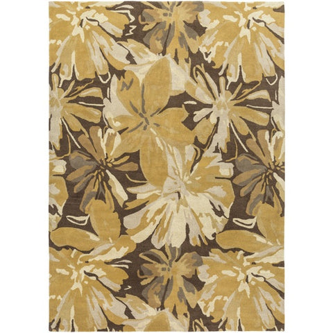 Athena Gold + Brown Flower Rug [Discontinued]