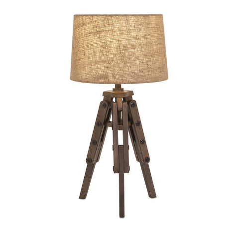 Concord Wood Tripod Table Lamp