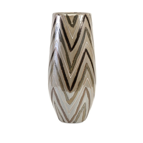 Brown ZigZag Vase