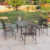 Outdoor Metal Large Rectangle Dining Set
