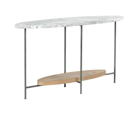 Madeira Marble Oval Console Table