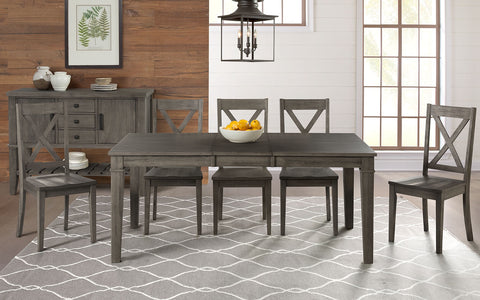 "Huron Gray 42"" Dining Table w/ 18"" Leaf"