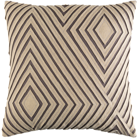 Denmark Gray Pillow 18x18