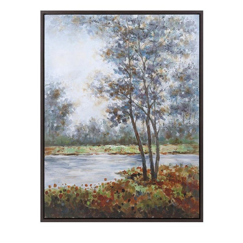 Autumn Lake Scene Wall Decor