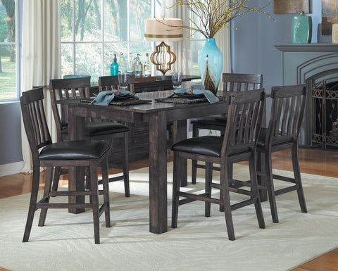 Mariposa Warm Gray Extendable Counter Height Dining Table Only