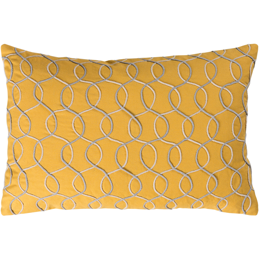Solid Bold II Yellow Pillow 13x19