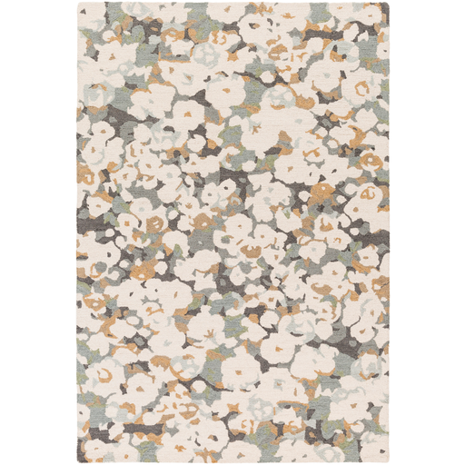 Inman Gray Ivory Camel Flower Camo Rug