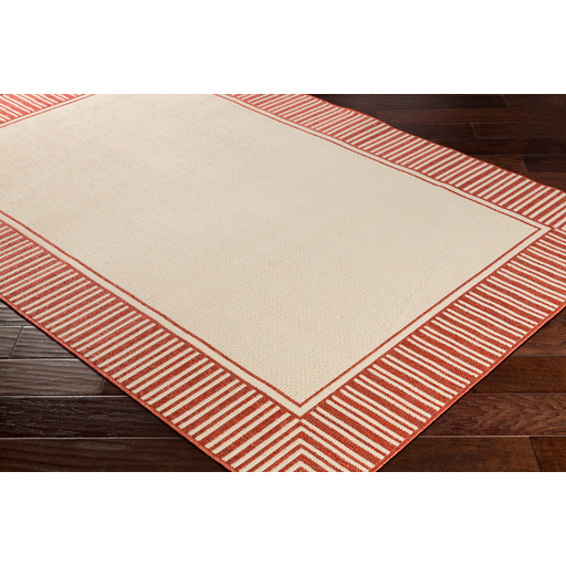 Alfresco Border Orange Outdoor Rug