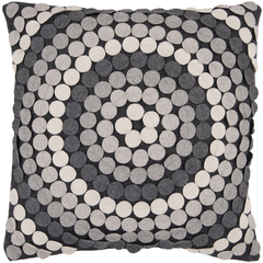 Grey Circles Pillow