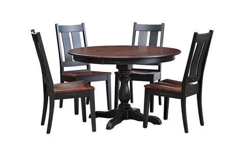 Custom Amish Express Round Pedestal Table
