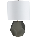 Kelsey Table Lamp, Charcoal with White Shade
