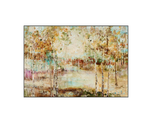 Shimmer White Woods Wall Decor