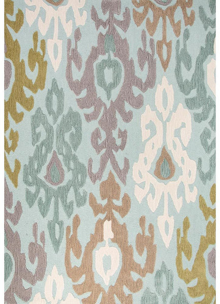 Devine - Aries - Teal and Green Rug