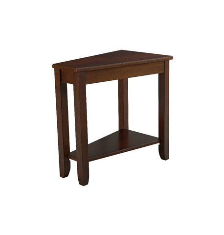 Cherry Finish Wedge End Table