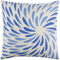 Splash Blue Linen Pillow 22x22