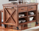 Anacortes Kitchen Island With Two Stools