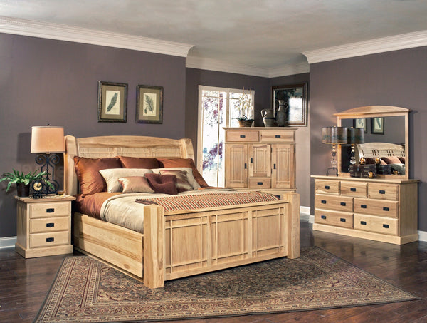 Amish Highlands King Arch Storage Bed
