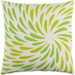 Splash Green Linen Pillow 22x22