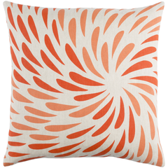Linen Orange Splash Pillow