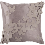 Butterfly Grey Pillow 18x18