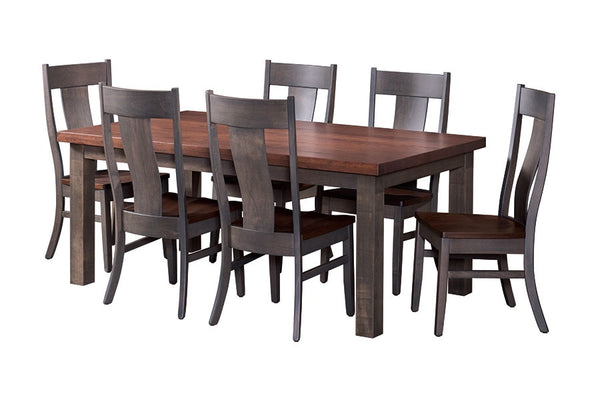 Custom Amish Express Thick Top Handplaned Solid Dining Table