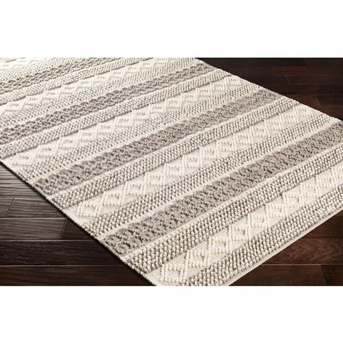 Farmhouse Neutrals Cream + Khaki Wool Area Rug