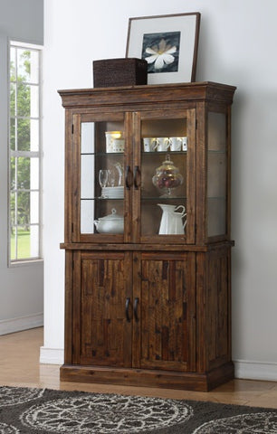 Normandy Curio Cabinet W/ Glass Door Base