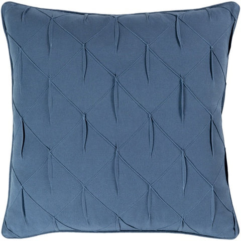"Gretchen Blue Textured Pillow 20"" x 20"" Down"