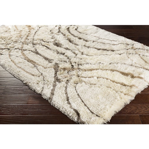 Corsair Cream + Tan Shag Rug