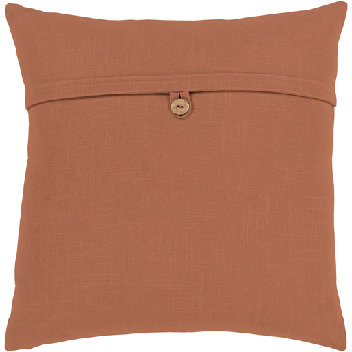 "Penelope Camel Button Pillow 18"" x 18"""
