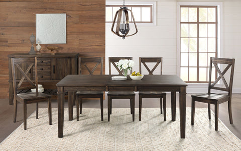 "Huron Weathered Russet Dining Table w/ 16"" Leaf"