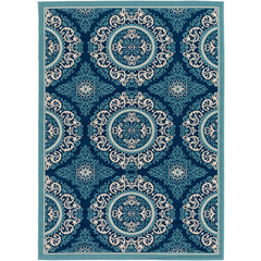Marina Teal Medallion Rug