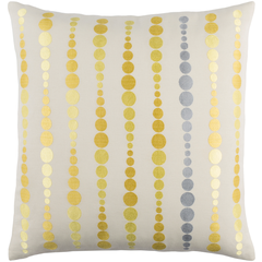 Dewdrop Yellow Pillow 18 x 18