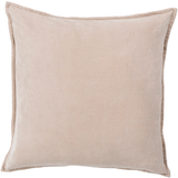Taupe Cotton Velvet Pillow 18 x 18