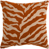Tan and Orange Zebra PIllow 18 x18