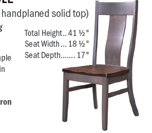 Custom Amish Express  Handplaned Dining Chair