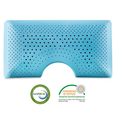 Cooling Gel Infused Shoulder Cutout Memory Foam Pillow