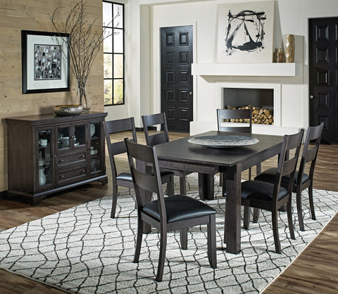 Mariposa Warm Gray Extendable Dining Table Only