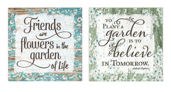 Friends Are Flowers Wall Decor