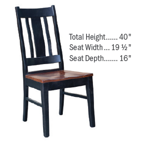Custom Amish Express Elm Slatback Dining Chair