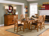 Cattail Bungalow Amber Trestle Dining Table