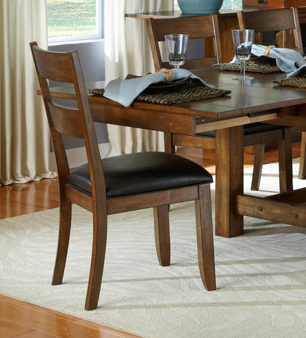 Mariposa Rustic Whiskey Ladderback Dining Chair