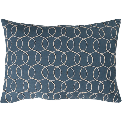 Solid Bold II Blue Pillow 13x19