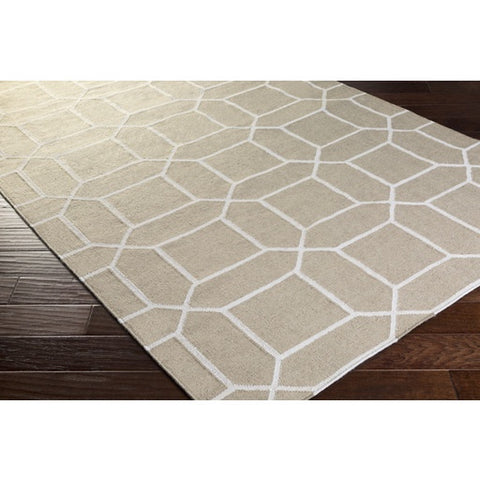Lagoon White + Taupe Outdoor Rug