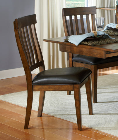Mariposa Rustic Whiskey Slatback Dining Chair