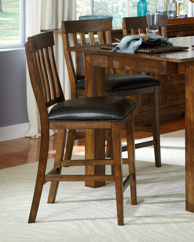 Mariposa Rustic Whiskey Slatback Counter Stool