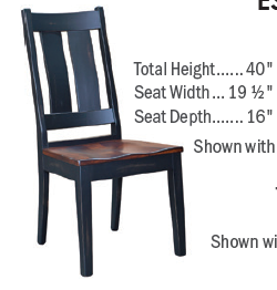 Custom Amish Express Thick Slatback Dining Chair