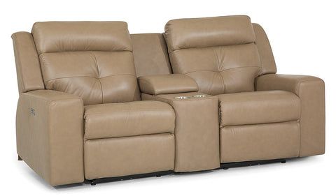 Grove Power Loveseat w/ Cupholders & Power Headrest