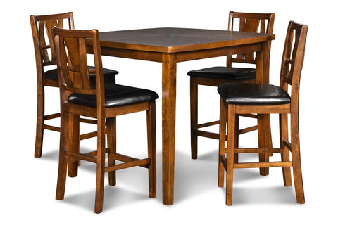 Dixon Counter Dining Table + Chairs (5 Pc Set)