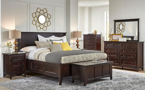 Westlake Dark Mahogany King Headboard Only